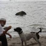 Mein Mann Thomas mit unserem Hund Chico