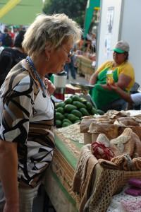 Kurze Verschnaufpause auf dem Bio-Markt des Gipfels der Völker. Foto: privat