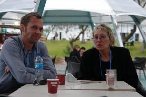 reffen mit Genossen aus Schweden im Konferenz-Park. Foto: privat