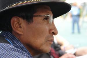 Indigenen-Vertreter aus Bolivien ist gegen Wald-Vermarktung durch REDD-Programme. Foto: privat