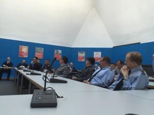 Bundeswehrangehörige diskutieren über linke Positionen zu Energie und Klima (Foto: Privat)