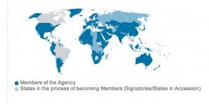 Karte mit IRENA-Mitgliedsstaaten (Foto: Screenshot)