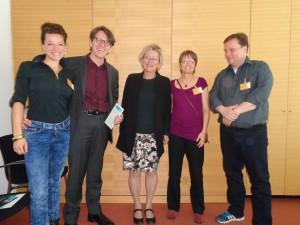 Eva und das Gründungskomitee von Citizens Climate Lobby Deutschland (Foto: Privat)