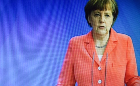 Bundeskanzlerin Angela Merkel in Berlin (Foto: Screenshot)