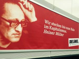 Heiner Müller im Fraktionssaal von DIE LINKE. im Bundestag hat wohl Recht. (Bild: Privat)