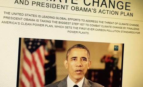Obama stellt auf Webseite von Weißen Haus seinen Klimaplan (Foto: Screenshot/WhiteHouse.gov)