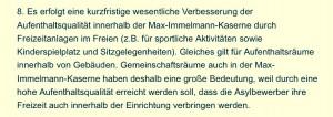 Der Punkte-Plan von Ingolstadt und Staatsregierung zur Immelmann-Kaserne: Flüchtlinge sollen Einrichtung nicht verlassen. (Foto: Privat)