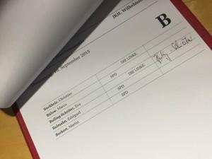 Anwesenheit ist Pflicht: Am Donnerstag wieder im Bundestag (Foto: Privat)