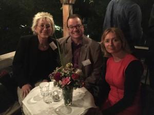 VCD-Vorsitzender Ziesak zwischen zwei linken Abgeordneten: Eva und Vize-Fraktionschefin Karen Lay (Foto: Privat)