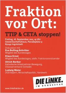 Ein engagiertes Podium in Ingolstadt (Bild: Die Linke)