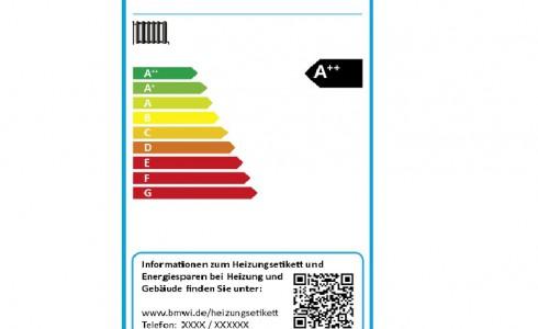 Schön bunt: Die meisten Heizungen werden wohl bei Rot eingestuft (Bild: BMWi)