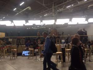 Journalisten warten auf eine der zahlreichen Pressekonferenzen des Weltklimagipfels (Foto: privat)