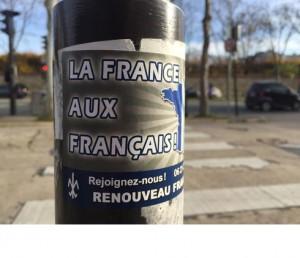 """""""Frankreich den Franzosen"""": Nach den Anschlägen von Paris boomt die Fremdenfeindlichkeit (Foto: privat)"""