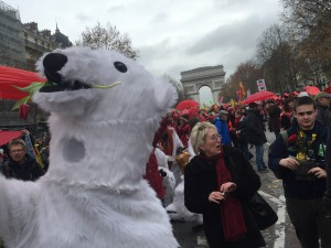 Tolerierte Klimademo in Paris am Samstag  (Foto: privat)