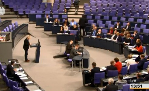 Eva im Plenum (Bild: Screenshot/BT)