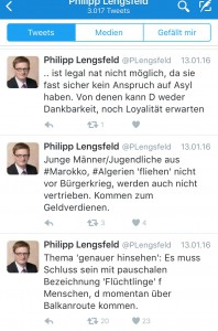 Kommentar zu Flüchtlingen von Phillip Lengsfeld (CDU) (Bild: Screenshot/Twitter/@plengsfeld)