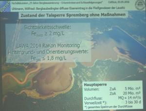 Luftaufnahme der braunen Talsperre Spremberg (Foto: DIE LINKE)