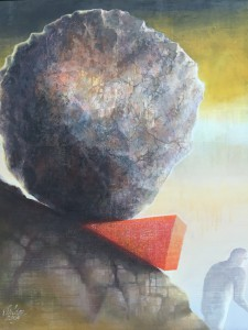 """Kunst im Fraktionssaal: """"Sisyphos macht Pause"""" (2009) von Siegfried Schütze (Foto: Privat)"""
