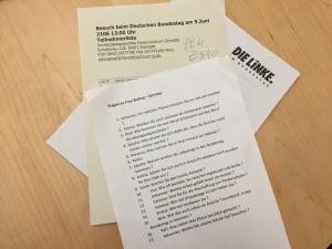 Besser vorbereitet waren wenige: Die Fragen der Schulklasse (Foto: Privat)