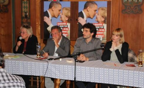 v.l.n.r.: Eva Bulling-Schröter, Klaus Ernst, Ates Gürpinar, Nicole Gohlke Foto: Privat