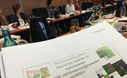 Wald- und Klimaschutz versus Menschenrechte im Bundestag (Foto: Privat)