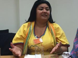 Deris Paz aus Kolumbien berichtet auch von Repression gegen Kohle-Gegner durch Werkschutz (Foto: Privat)
