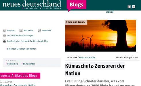 Viel ist vom Klimaschutzplan 2050 nicht übrig geblieben (Foto: ND/Screenshot)