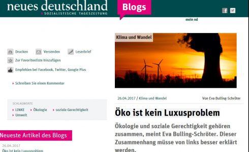 Öko ist kein Luxusproblem, besonders arme Menschen leiden unter schlechter Umwelt (Foto: ND/Screenshot)
