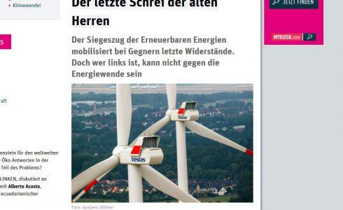 Oft sind die lautesten Gegner der Windkraft alte Männer (Foto: Screenshot ND)