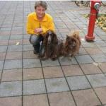 Genossin Cornelia Wagner aus Hof mit Willi und Charly
