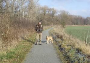 Torsten Hild, der persönliche Referent von Oskar Lafontaine und Queeny, zwischen Weihnachten 2008 und Neujahr zu Fuß unterwegs nach Quedlinburg