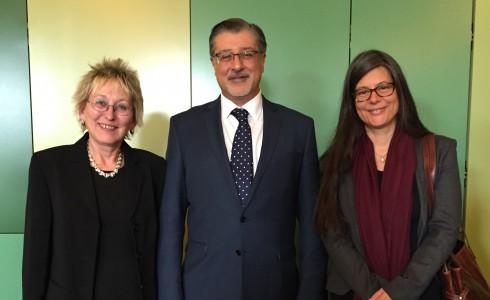 Eva, Amin Adnan (IRENA), Nina Scheer (SPD) (v.l.n.r.)