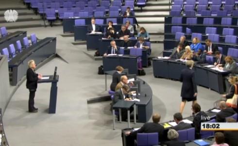 Rede zu Klimaforschung und Aufholbedarf bei der CDU (Bild: Screenshot/Bundestag.de)