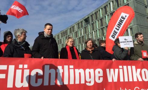 Flüchtlinge Willkommen: Gegen Rassismus und rechte Gewalt! (Foto: Privat)
