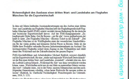 KA Dritte Startbahn und Export: Stimmen die Argumente der Befürworter? (Foto: Screenshot/BT)