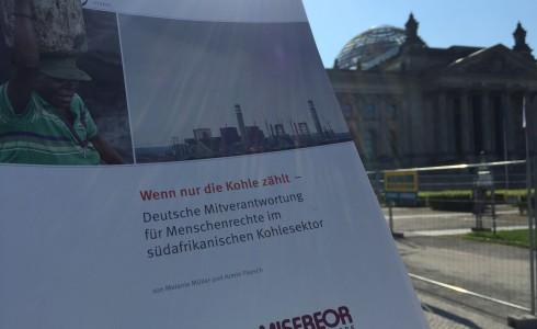 Misereor über das deutsche Geschäft mit der Kohle Südafrikas im Bundestag (Foto: Privat)