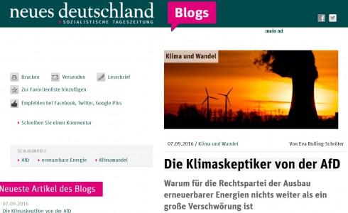 screenshot Klimablog neues deutschland