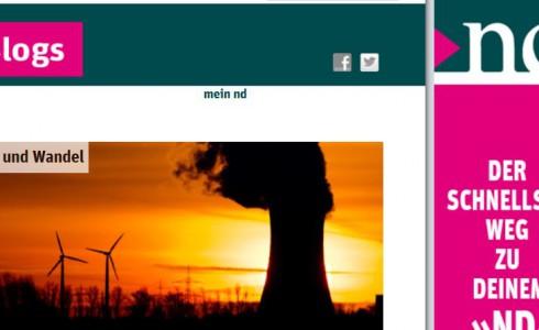 Klima und Wandel, der ND-Blog (Foto: ND/Screenshot)