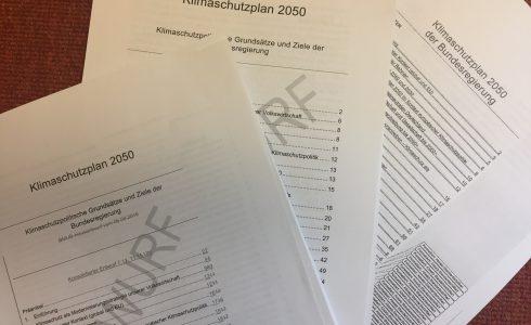 Entwurf um Entwurf wurde der Klimaschutzplan abgeschwächt - übrig ist eine zahlose Absichtserklärung (Foto: Privat)