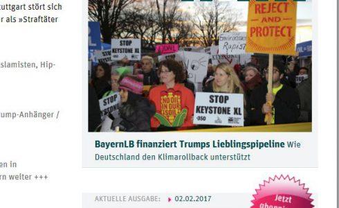 Mit öffentlichen Geldern aus Deutschland sollen keine Fracking-Pipelines wie die North Dakota Access finanziert werden (Foto: ND/Screenshot)