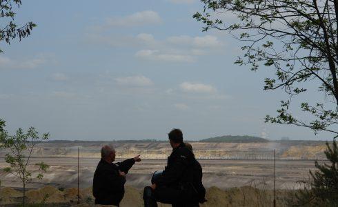 Am Rande des Tagebaus Welzow Süd (Foto: privat)