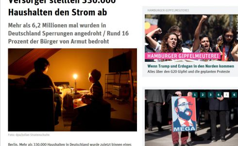 Medienbericht über die Energiearmut in Deutschland (Foto: Screenshot/ND)