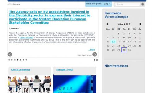 Foto: Ausschnitt website www.acer,europe.eu
