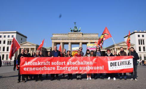 Uranexporte aus Gronau und Lingen verbieten! Atomanlagen abschalten! (Foto: Linksfraktion)