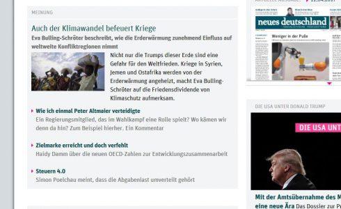 Wer Frieden will, darf über Klimawandel nicht schweigen (Foto: ND/Screenshot)
