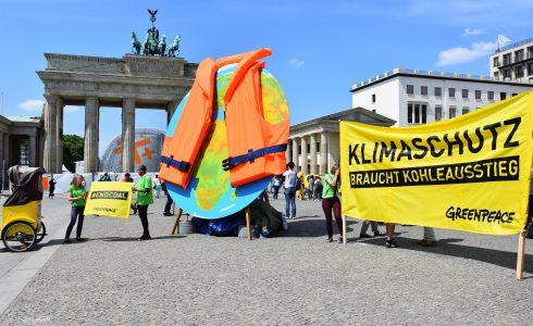 Klimadialog: Greenpeace-Protest auf dem Pariser Platz (Foto: privat)