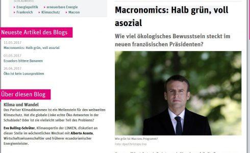 Als Ex-Wirtschaftsminister machte sich Macron für Atomkraft stark (Bild: ND/Screenshot)
