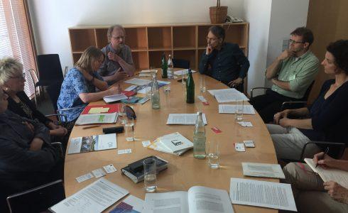 Treffen im Oval Office des Bundestages mit VertreterInnen der Klima-Allianz (Foto: Privat)