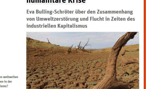 Flucht von Menschen ist eine soziale und ökoligische Krise (Foto: ND/Screenshot)